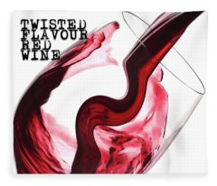Twisted Flavour Red Wine Tfrw Top Fleece Blanket