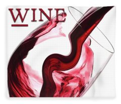 Twisted Flavour Red Wine Wine Only Fleece Blanket