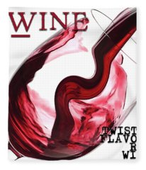 Twisted Flavour Red Wine All Words Fleece Blanket