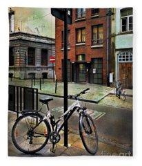 Two Bicycles Fleece Blanket