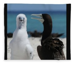 Two Birds-black And White Fleece Blanket
