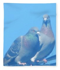 Two Birds In Spring Fleece Blanket