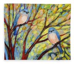 Tree Branch Paintings Fleece Blankets
