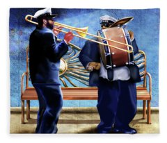 Two Da Jazz Way Fleece Blanket
