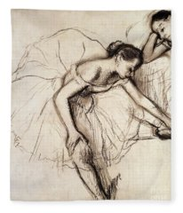 Two Dancers Resting Fleece Blanket
