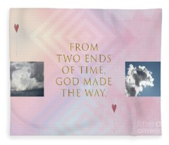Two Ends Of Time Fleece Blanket