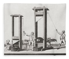 Two Guillotines From The Time Fleece Blanket
