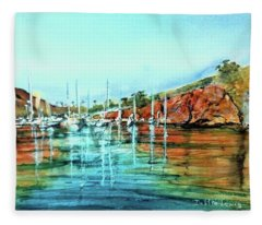 Two Harbors Catalina Morning Impressions Fleece Blanket