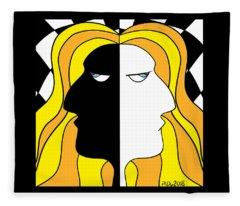 Two Heads Two Souls Fleece Blanket