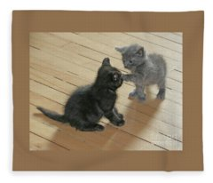 Two Kittens Fleece Blanket