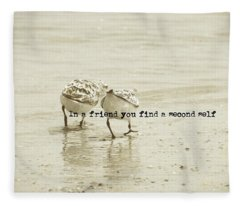 Two Of A Kind Quote Fleece Blanket