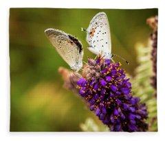 Two On A Flower Fleece Blanket