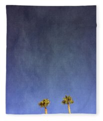 Two Palm Trees- Art By Linda Woods Fleece Blanket