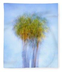 Two Pretty Palms Fleece Blanket