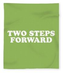 Two Steps Forward Simply Inspired Series 013 Fleece Blanket