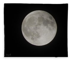 Two-tone Gray Moon Fleece Blanket