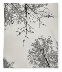 Two Trees Reaching Towards Each Other Fleece Blanket