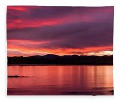 Twofold Bay Sunset Fleece Blanket