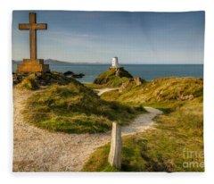 Twr Mawr Lighthouse Fleece Blanket