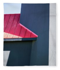 Tybee Building Abstract Fleece Blanket