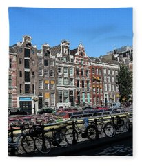 Typical Houses In Amsterdam Fleece Blanket