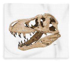 Tyrannosaurus Skull Fleece Blanket