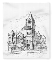 Tyrrell Historical Library Fleece Blanket