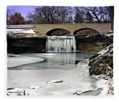 Tyrst Falls Frozen Fleece Blanket