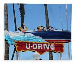 U-drive Boat Sign Fleece Blanket
