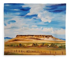 Ulm Montana First People's Buffalo Jump   93 Fleece Blanket