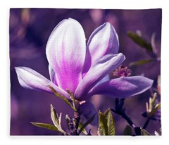 Ultra Violet Magnolia  Fleece Blanket