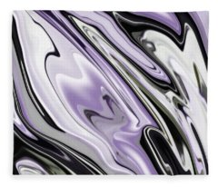 Ultra Violet Silver And Lilac Abstract Marble Vector Fleece Blanket