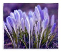 Ultra Violet Sound Fleece Blanket