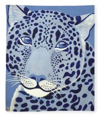 Ultramarine Jaguar Fleece Blanket