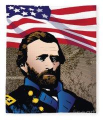 Ulysses S. Grant At Appomattox Fleece Blanket