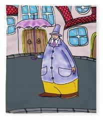 Umbrella Man Fleece Blanket