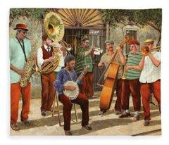 Un Po' Di Jazz Fleece Blanket
