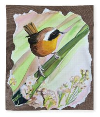 Uncommon Yellowthroat Fleece Blanket