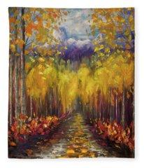 Uncompahgre National Forest Palette Knife Painting  Fleece Blanket