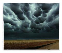 Under A Mammatus Sky Fleece Blanket