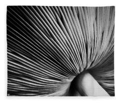 Under A Mushroom Fleece Blanket