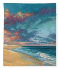 Under A Painted Sky Fleece Blanket