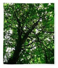 Under A Tree Fleece Blanket