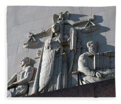 Under Scales Of Justice Fleece Blanket
