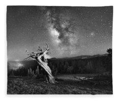 Under Starry Sky At Night  Fleece Blanket