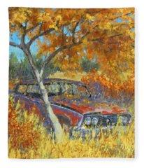Under The Chinese Elm Tree Fleece Blanket