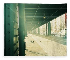 Under The Elevated Railway Fleece Blanket