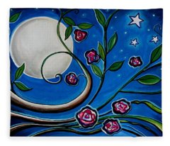 Under The Glowing Moon Fleece Blanket