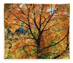 Under The Golden Tree Fleece Blanket