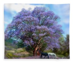 Under The Jacaranda Fleece Blanket